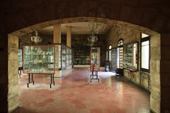 Mallorca. Algaida Es Pla, Majorca / Spain - August 25, 2016: The glass museum at manufacturing factory Guardiola, Algaida Es Pla, Mallorca, Balearic Islands stock photos