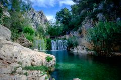 Algar nedgångar Region Alicante spain Royaltyfria Foton