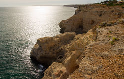 Algar Seco in the Algarve in Portugal royalty free stock images