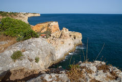 Algar Seco in the Algarve in Portugal Royalty Free Stock Photo