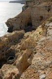 Algar Seco in the Algarve in Portugal royalty free stock photography