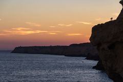 Algar Seco in Carvoeiro in Algarve Portugal royalty free stock photography