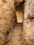 Algar Seco Cliff Walk, Carvoeiro, Portugal Royaltyfria Bilder