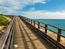 Algar Seco Cliff Walk, Carvoeiro, Portugal Arkivbild