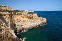Algar Seco i Portugal Royaltyfria Bilder