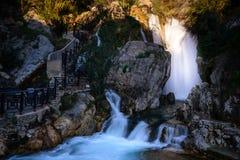 Algar springbrunnAlicante landskap, Spanien Arkivbilder