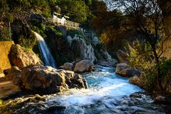 Algar springbrunnAlicante landskap, Spanien Arkivfoto