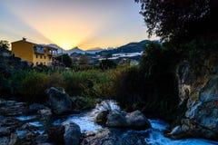 Algar springbrunnAlicante landskap, Spanien Royaltyfri Foto