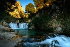 Algar springbrunnAlicante landskap, Spanien Fotografering för Bildbyråer