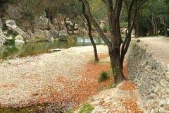 Algar springbrunnar, Callosa de Ensarria, Alicante landskap, Spanien Arkivfoton