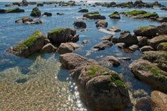 Algarrobo strand Arkivbild