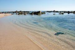 Algarrobo strand Arkivbilder