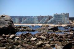 Algarrobo Strand, Chili Stock Afbeelding