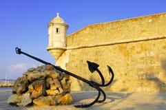 algarve堡垒拉各斯葡萄牙 免版税库存照片