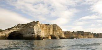 algarve沿海视图 库存图片