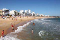 algarve海滩葡萄牙quarteira 免版税图库摄影
