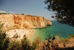algarve海滩 库存照片