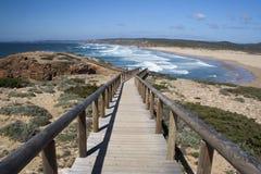 algarve海滩bordeira葡萄牙 免版税图库摄影