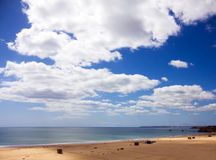 algarve海滩da葡萄牙普腊亚rocha 免版税库存照片
