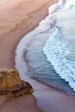 algarve海滩da葡萄牙普腊亚rocha 库存照片
