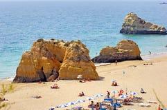 algarve海滩portimao葡萄牙 库存图片