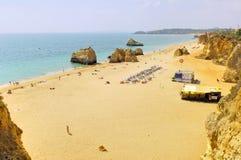 algarve海滩portimao葡萄牙 库存照片