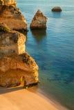 algarve海滩camilo ・拉各斯葡萄牙 库存照片