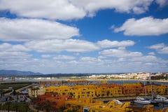 algarve港口portimao葡萄牙 免版税库存照片