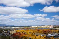algarve港口portimao葡萄牙 免版税库存图片