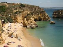 пляж algarve Стоковое Фото