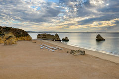 Algarve amazing beach seascape Stock Images