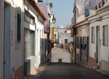 Algarve Backstreet 3. A Typical Backstreet in Alvor on the Algarve Portugal Stock Photo