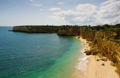 Algarve beach. View of algarve beach of Senhora da Rocha Stock Images