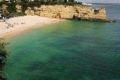 Algarve beach. View of algarve beach of Senhora da Rocha Stock Image