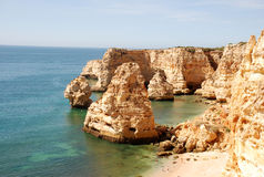 Algarve beach. Beach at the Algarve, Portugal royalty free stock photography