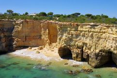Algarve beach Albandeira Royalty Free Stock Photos