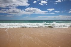 Algarve Beach at Atlantic Ocean. Portugal Stock Photography