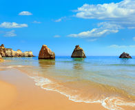 Algarve beach Dos Tres Irmaos Portugal Royalty Free Stock Images