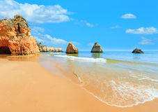 Algarve beach Dos Tres Irmaos Portugal Royalty Free Stock Photography