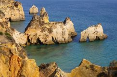 Algarve beach Dos Tres Irmaos Royalty Free Stock Images