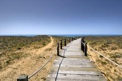 Algarve beach entrance Stock Photo