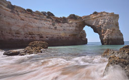 Algarve Beach Natural Arch Stock Image