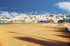 Algarve. Beach in Portugal in the Algarve stock photo