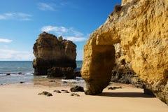 Algarve beach. Rocks, sands and ocean stock photography
