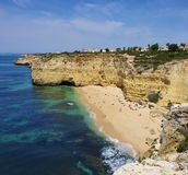 Algarve beach Vale de Centeanes Stock Images