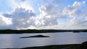 Algarve Beliche dam landscape timelapse view (Portugal) stock video footage