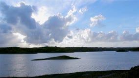 Algarve Beliche dam landscape view (Portugal) stock footage