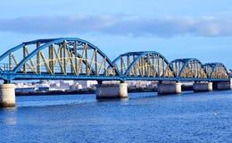 Algarve bridge royalty free stock photography