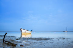 Algarve Cavacos beach sunset landscape at Ria Formosa wetlands Stock Images