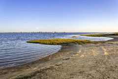 Algarve Cavacos beach twilight landscape at Ria Formosa wetlands Stock Image